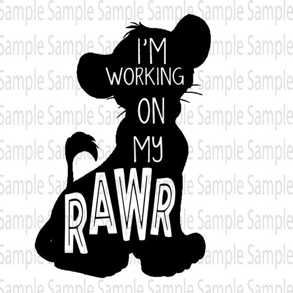 Design: Working on my RAWR!! Lion King Design  YOU MUST HAVE A CUTTING MACHINE TO USE THIS FILE THIS IS A DIGITAL LISTING AND NO ITEM WILL BE MAILED   Cutting Files: SVG, PNG, Cricut & Silhouette Machine Use! PLEASE CHECK WITH YOUR MACHINES ABILITY TO USE THESE FORMATS. You must have the Designer Edition for Silhouette Cameo to use SVG.  Due to the electronic nature of the file, NO REFUNDS will be given. However, if for any reason you are unhappy with the design, please contact me as I am...