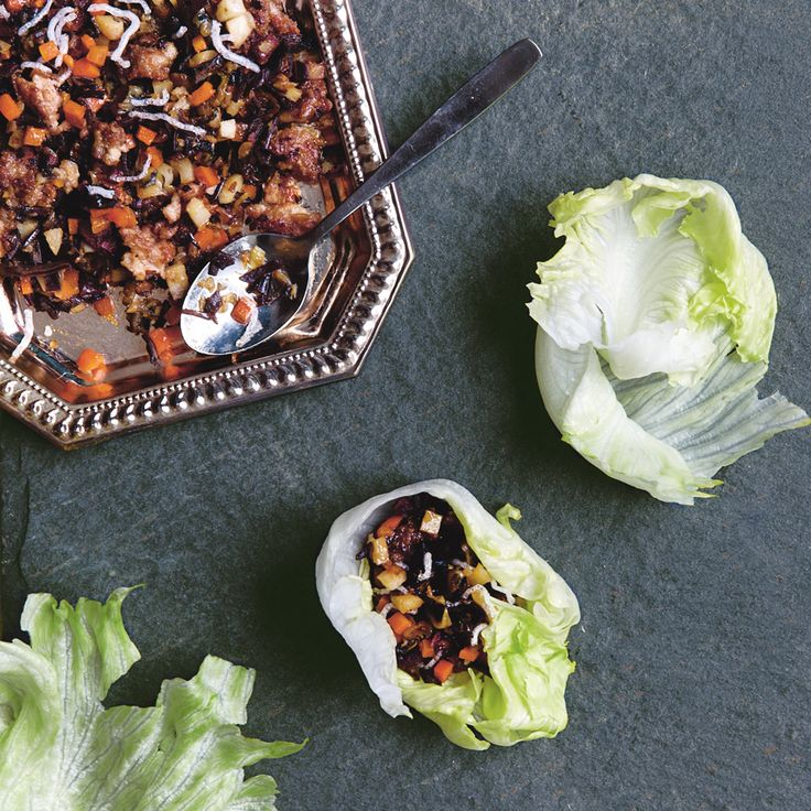 Lettuce Wraps with Dried Oysters | Food & Wine