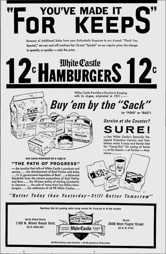Why don't we have any White Castles in Miami anymore??