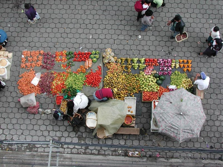 food market at city center - Quito