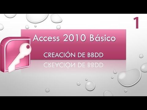 Curso Access Básico 2010. Creación de BBDD. Vídeo 1.mp4 - YouTube