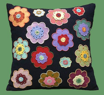 """""""Multicolored Flowers""""...these pillows would brighten any room !!!"""