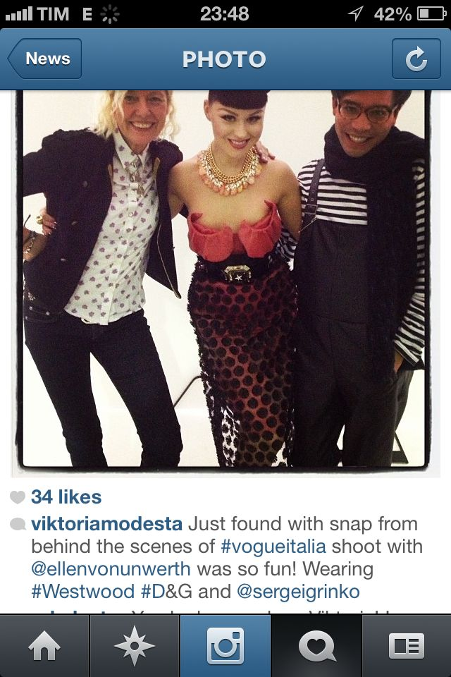 Viktoria Modesta in grinko#westwood#dolce#vogue#italy
