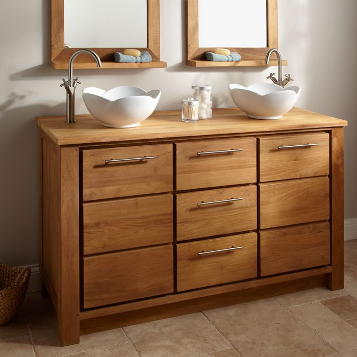 Home Design and Interior Design Gallery of Bathroom Teak Bathroom - Vessel Sinks Bathroom