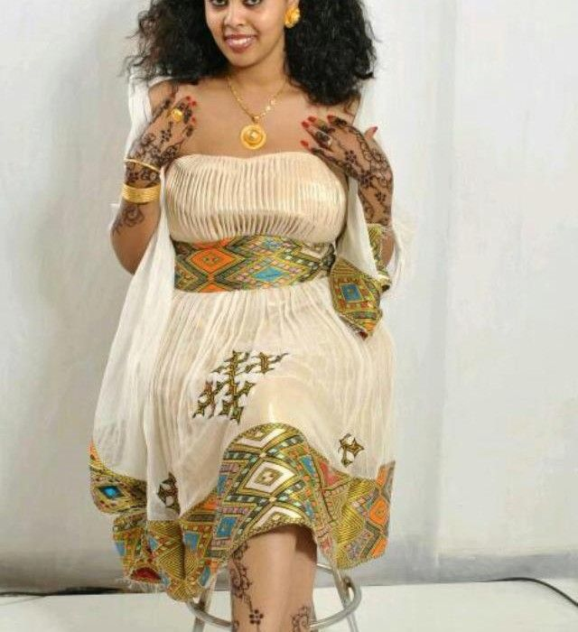 Habesha traditional dress ethiopian clothing eritrean for Habesha dress for wedding