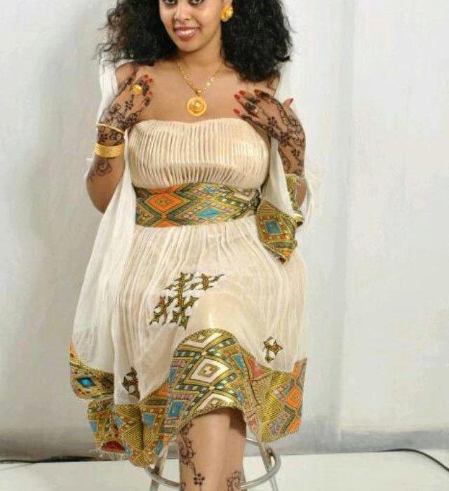 Habesha traditional dress ethiopian clothing eritrean for Ethiopian wedding dress designer