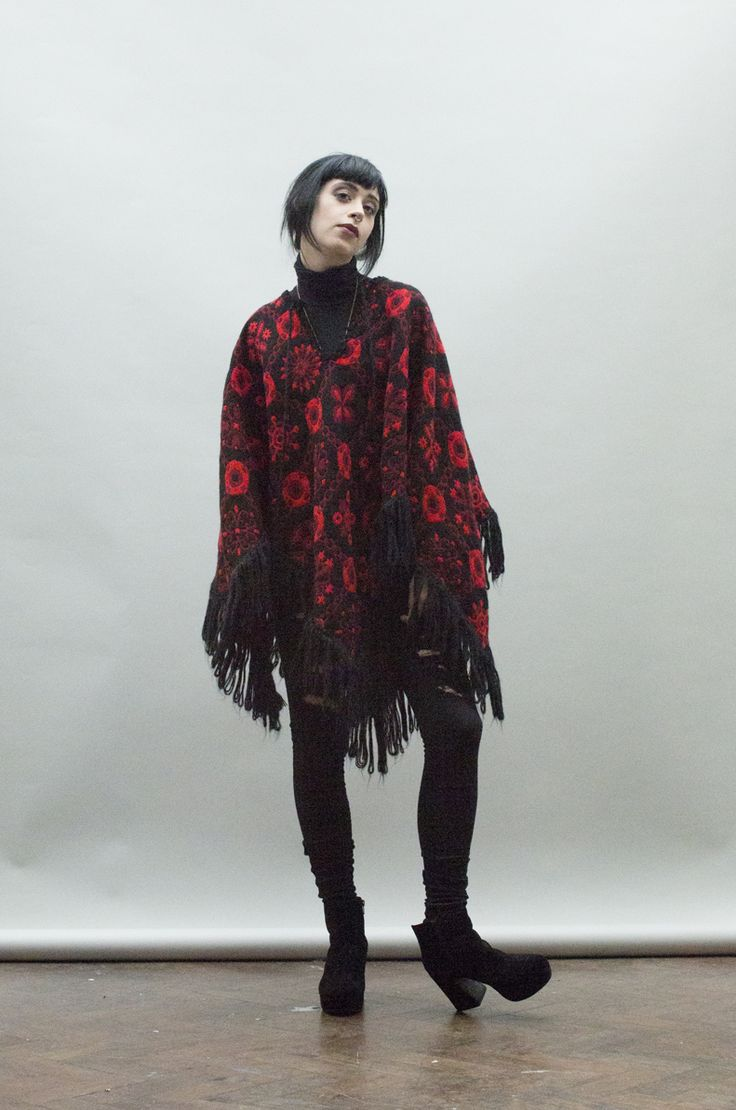 Vintage 1960's fringe poncho  http://www.nordicpoetry.co.uk/vintage-1960-s-fringe-wool-poncho