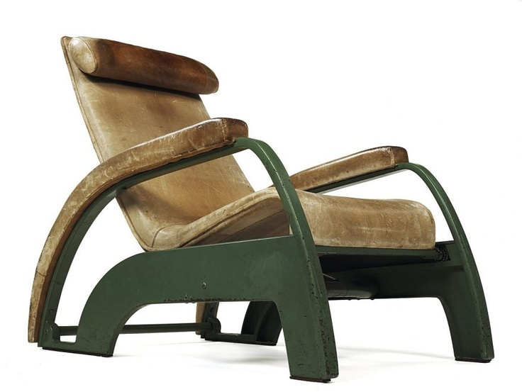 Industrial et chic.  Jean Prouve's lounge chair feels like the first class cabin of a 1930s Pan Am flight.  Oh to find one of these babies!