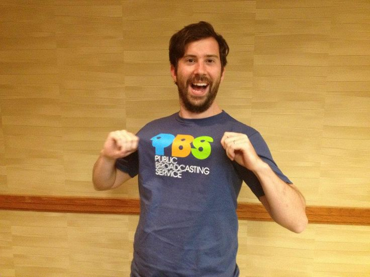 @JesseOver is super excited about his great retro PBS shirt! #PBSam 2012