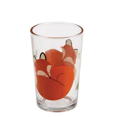 כוס זכוכית הדפס שועל