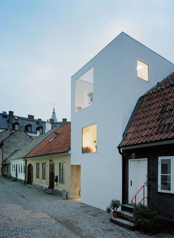 Elding Oscarson Architects. Located on a residential street in Landskrona, Sweden.