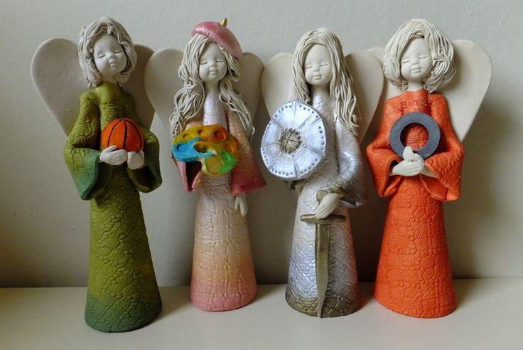 Ceramic angels/ Aniołki ceramiczne