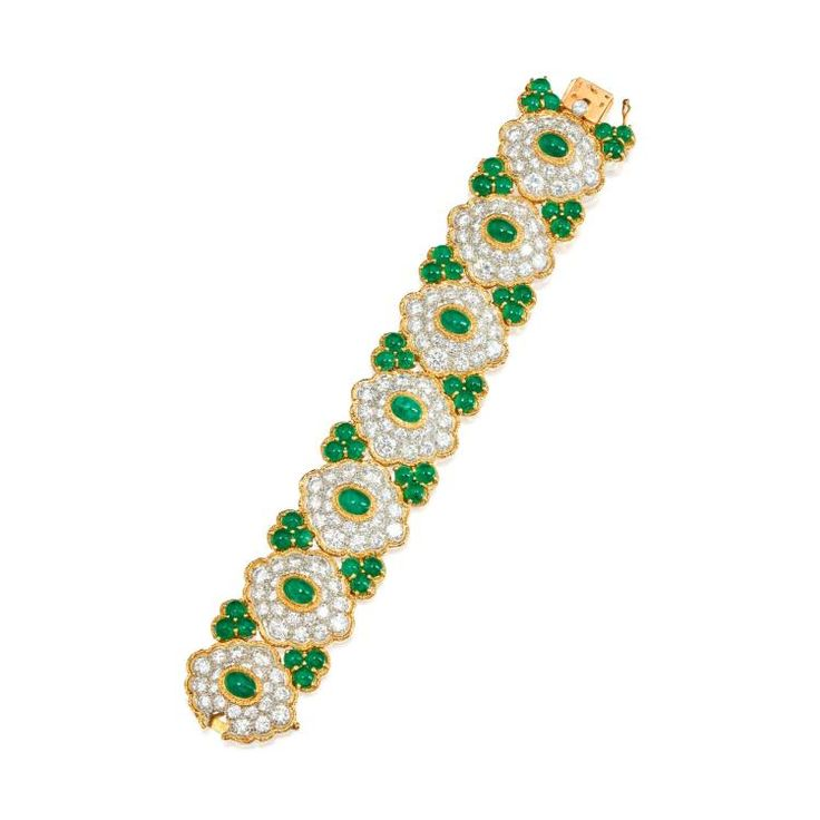 Buy online, view images and see past prices for DIAMOND AND EMERALD BRACELET, VAN CLEEF & ARPELS, FRANCE. Invaluable is the world's largest marketplace for art, antiques, and collectibles.