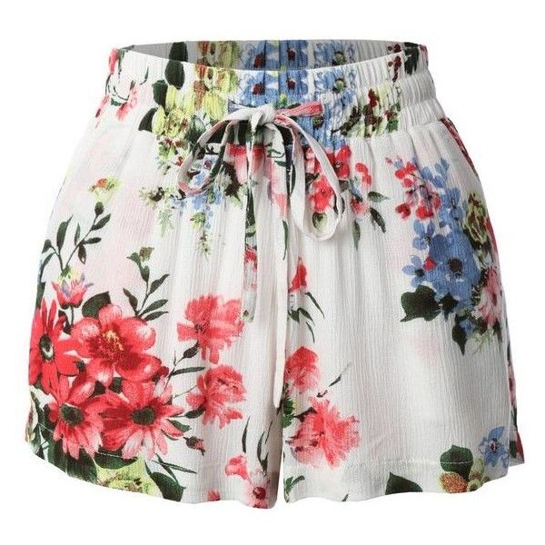 Summer shorts ❤ liked on Polyvore featuring shorts, flower print shorts, floral printed shorts, loose fitting shorts, lightweight shorts and summer shorts