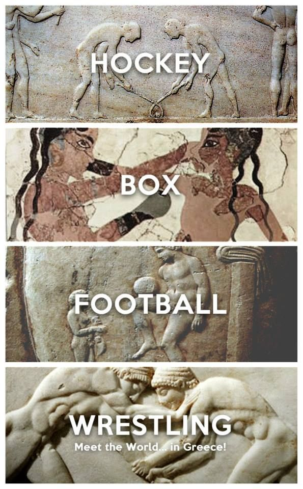 Hockey, Box, Football, Wrestling. Meet the World in Greece campaign by Ares Kalogeropoulos #kitsakis