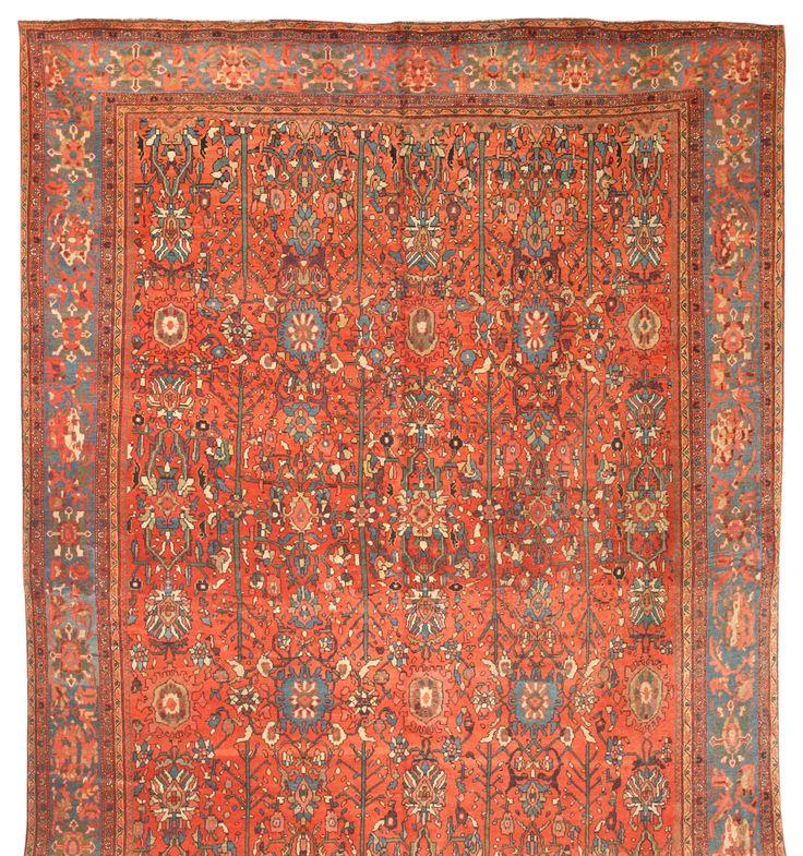 Antique Sarouk Carpet 8 9 X 13 3 Fred Moheban Gallery