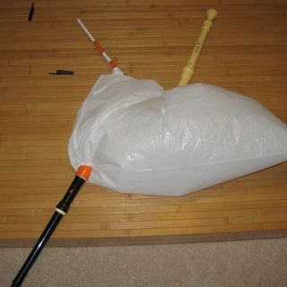 How to Make Bagpipes out of a Garbage Bag and Recorders. We should totally do this next time of the musical instruments.