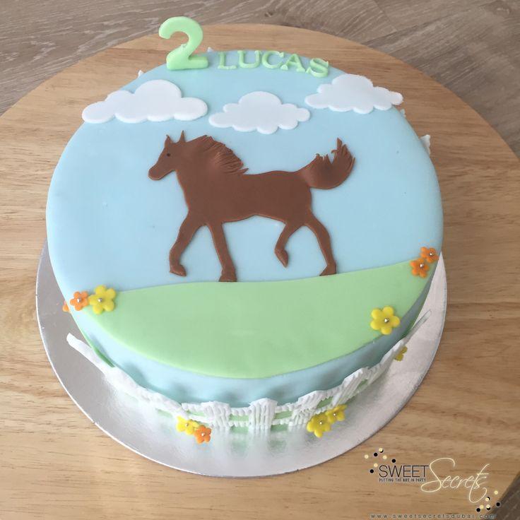 Horse Themed Cake www.sweetsecretsdubai.com