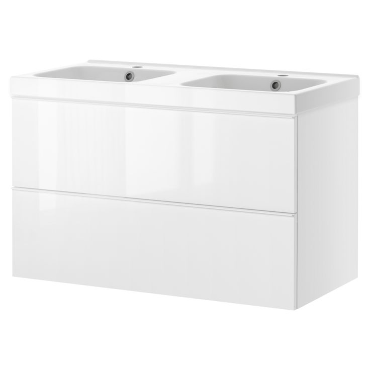 GODMORGON/ODENSVIK Meuble lavabo 2tir - effet chêne blanchi - IKEA