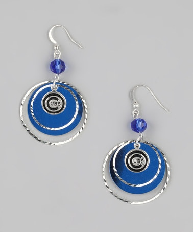 Take a look at this Chicago Cubs Game-Day Earrings by LogoArt on #zulily today!