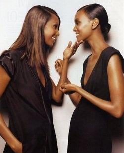 Iman and Liya kebede