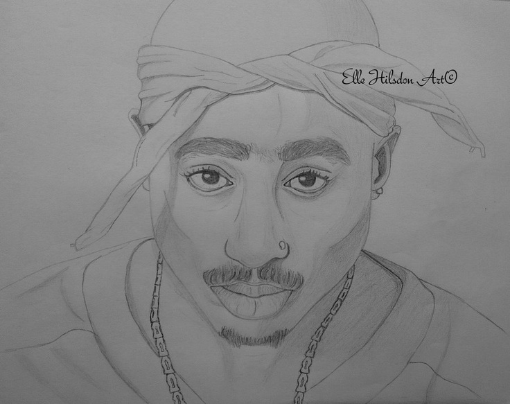 Tupac Shakur drawing | art | Pinterest | Art, Drawings and ...