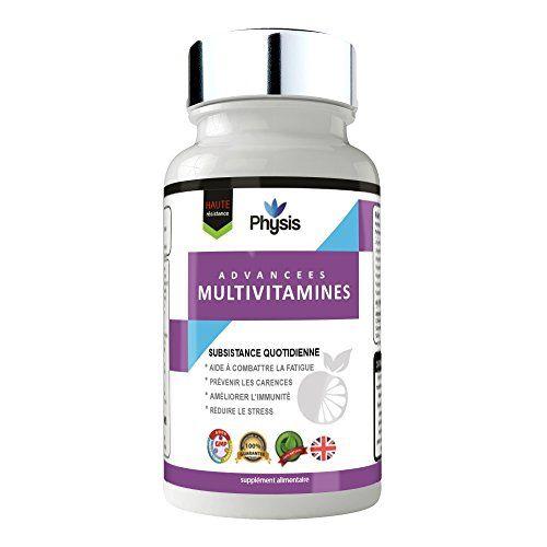 PHYSIS AVANCÉE MULTIVITAMINES   Supreme Multivitamin Solution Complex   120 comprimés   Valeur nutritive maximale   Empêcher les carences…