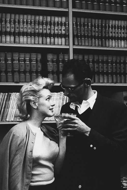 Beautiful photograph of Marilyn and Arthur Miller shortly after they got married by Judge Seymour Rabinowitz in a civil wedding at the Westchester County Court House in White Plains, New York on June 29, 1956.