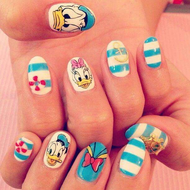 Character Design Nail Art : Best my style images on pinterest duck nails disney