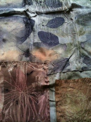 Found, stitched & dyed