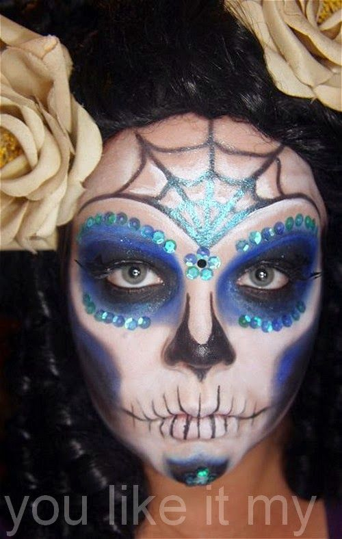 You Like It My...: Easy Mexican Sugar Skull Makeup For Day ...