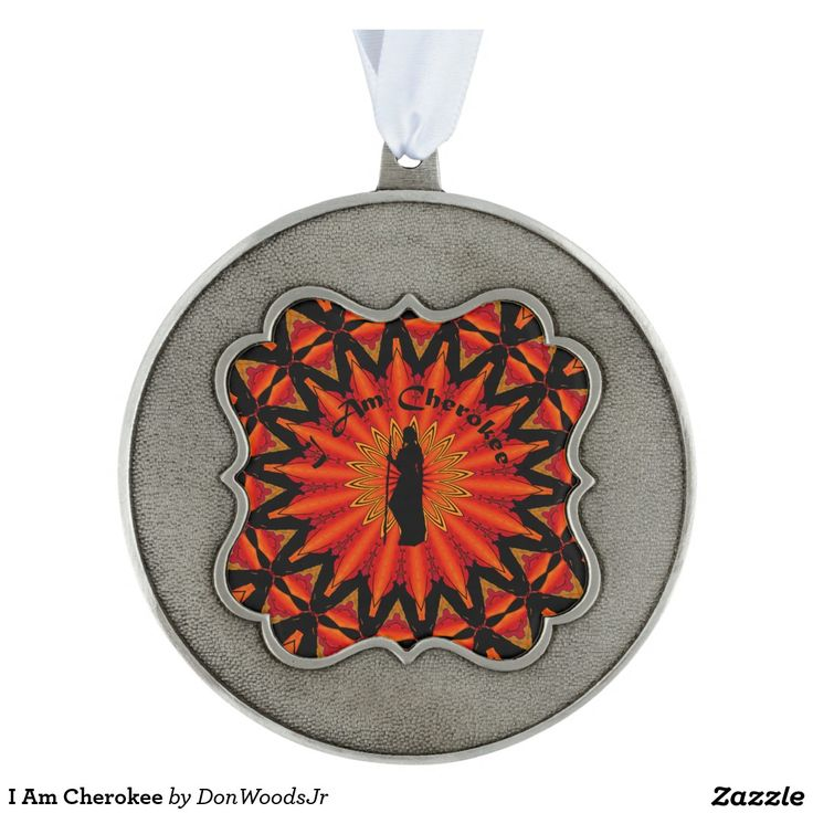 I Am Cherokee Pewter Ornament