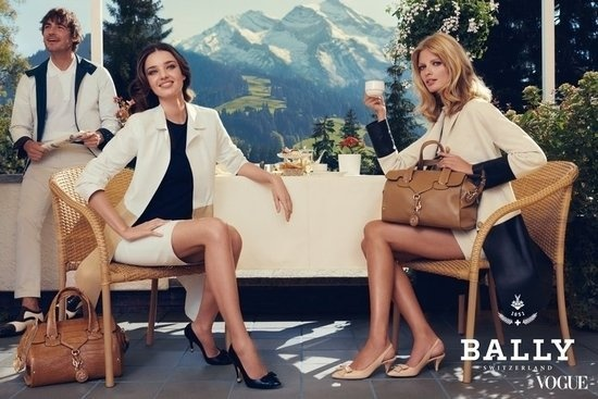 "PNW beauty, classic Bally lines: tan, navy and ivory ""suits"""