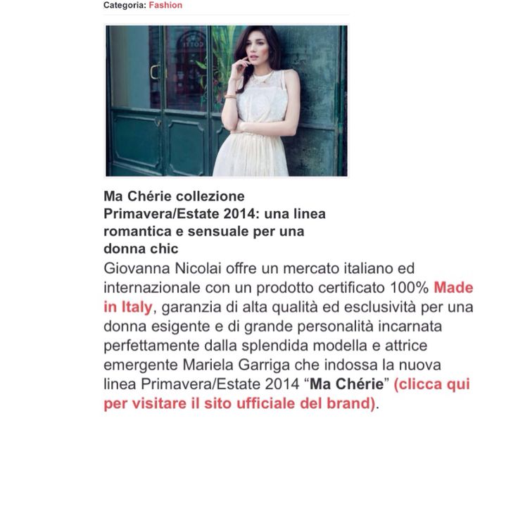 It's always a pleasure to work with a brand with this excellent quality @giennecouture @virginia_di_mauro Thanks @Martina Pelucchi for the post  #fashion #post #marielagarriga #actress #model #newcollection #spring #summer