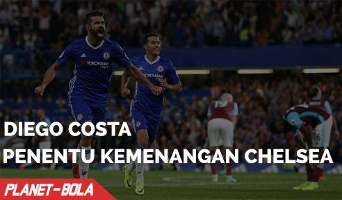 Diego Costa Jadi Penentu Kemenangan Chelsea di Laga Perdana Premier League 2016