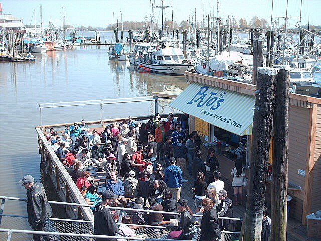 During a busy sunny day at our Wharf, Steveston  BC.