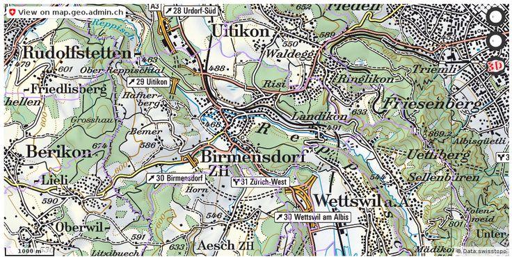 Birmensdorf (ZH) Grenze Gemeinde download http://ift.tt/2pAp96W #maps #schweiz