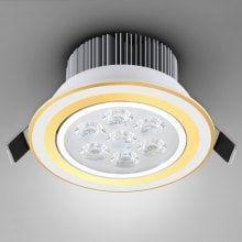 7W 840 Lumens 85 - 265V Warm White Light Ceramic Heat Dissipation Golden Ceiling Lamp