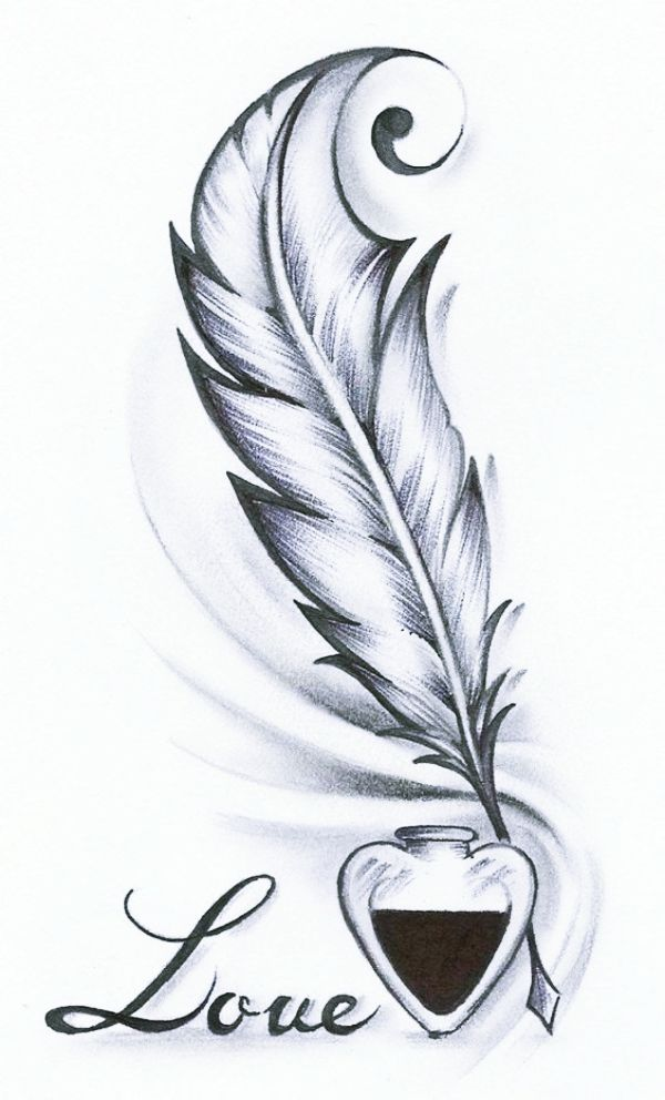 tattoo cool drawings feather simple drawing easy cartoon pencil sketch tattoos kill draw sketches district cartoondistrict doodle inspiration