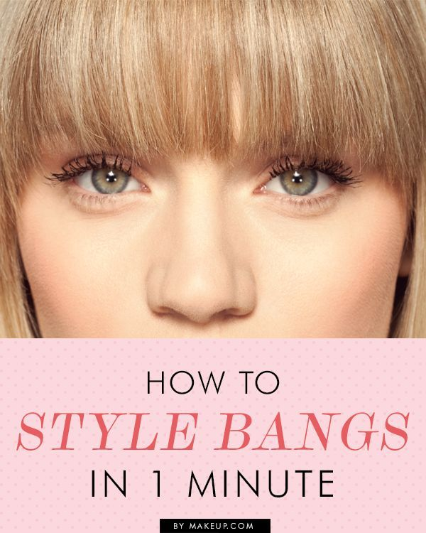 how to style your hair to one side one minute guide to styling bangs hair and tips 5215