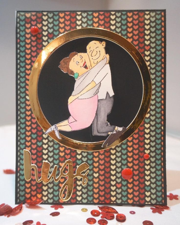 Art Impressions: Ai Spinners ... Love Spinner #4571 Handmade Valentine's Day, Anniversary card.