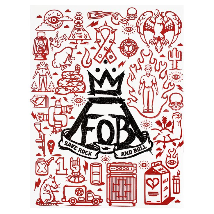 Logos For > Fall Out Boy Symbol Save Rock And Roll