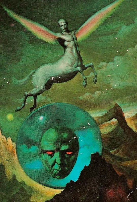 Uncredited 1976 cover art for 'A Wrinkle in Time'