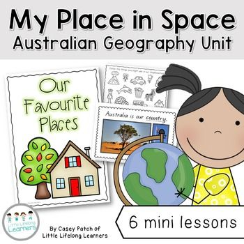 Over 6 mini lessons, your students will explore where their school is in terms of their street/road, suburb, state, country and planet.Included in this packet are several different printables and black line masters as well as hands on activity ideas. Some lessons may require some resource development on your part (for example, putting together a slideshow of images relevant to your state).I have also included posters featuring beautiful photographs for Brisbane city, Queensland, Australia…