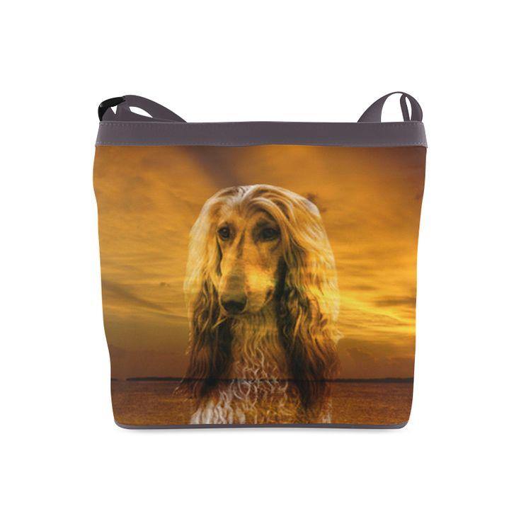 Dog Afghan Hound Crossbody Bags (Model 1613)