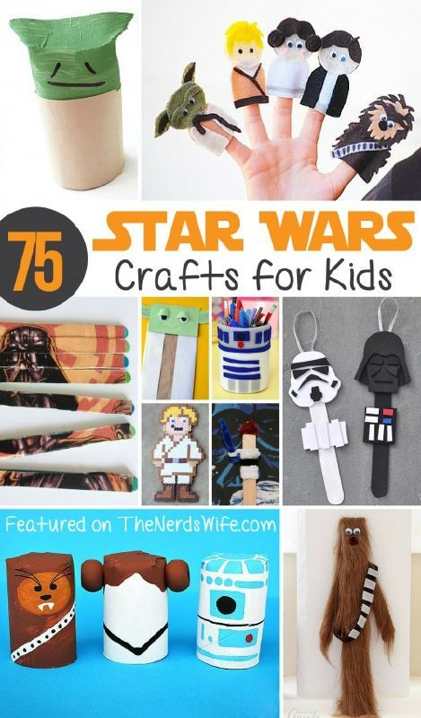 37 best star wars kids crafts images on pinterest star for Star wars arts and crafts