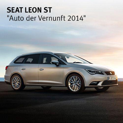 """Der #SEAT Leon ST ist dank technischer Innovationen und niedrigem Verbrauch das """"Auto der Vernunft 2014"""". Wir freuen uns und bedanken uns bei allen, die für uns gestimmt haben."""