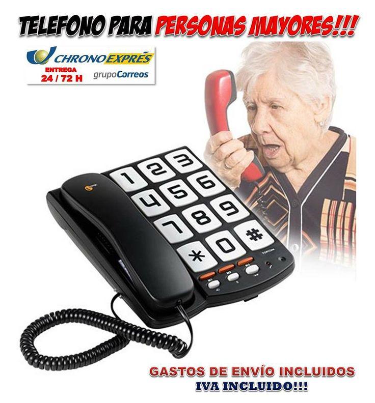 #gadgets #originales #telefonos #novedades #telefonia #regalos #compras #ofertas #descuentos  Un práctico teléfono con teclas grandes para personas mayores o con discapacidad visual. Puedes encontrarlo en la tienda Yougamebay. http://www.yougamebay.com/es/product/comprar-telefono-teclas-grandes-para-persona-mayores---tienda-telefonos-fijos