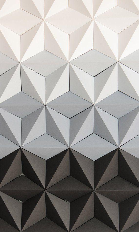 Mosaic Wall Art Black And White Wall Art 3d Geometric Wall Etsy In 2020 Mosaic Wall Art Geometric Wall Decor Etsy Wall Art