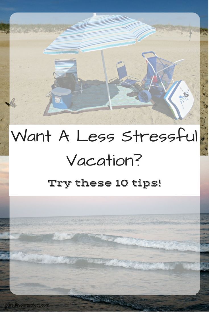 Stress less coloring by the shore - Ten Vacation Preparation Strategies